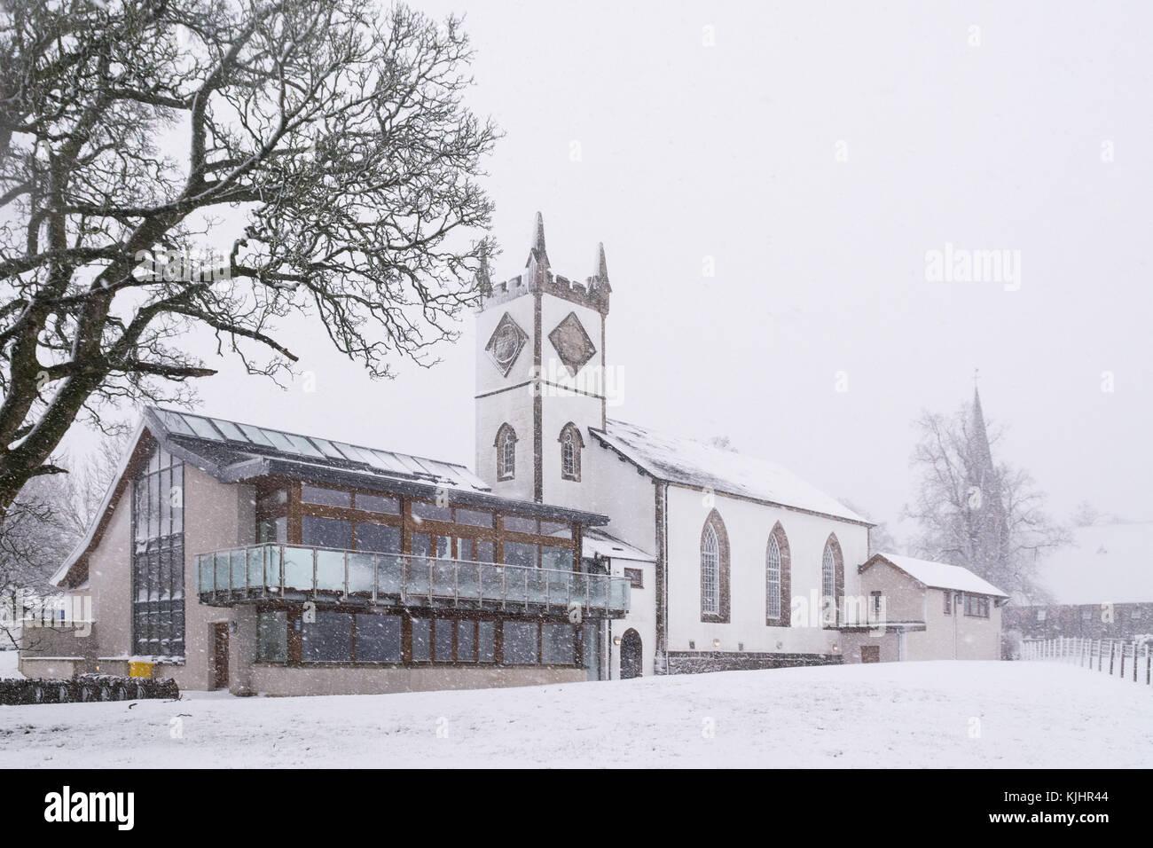 Killearn Village Hall im Winter, killearn, Stirlingshire, Schottland Großbritannien Stockbild