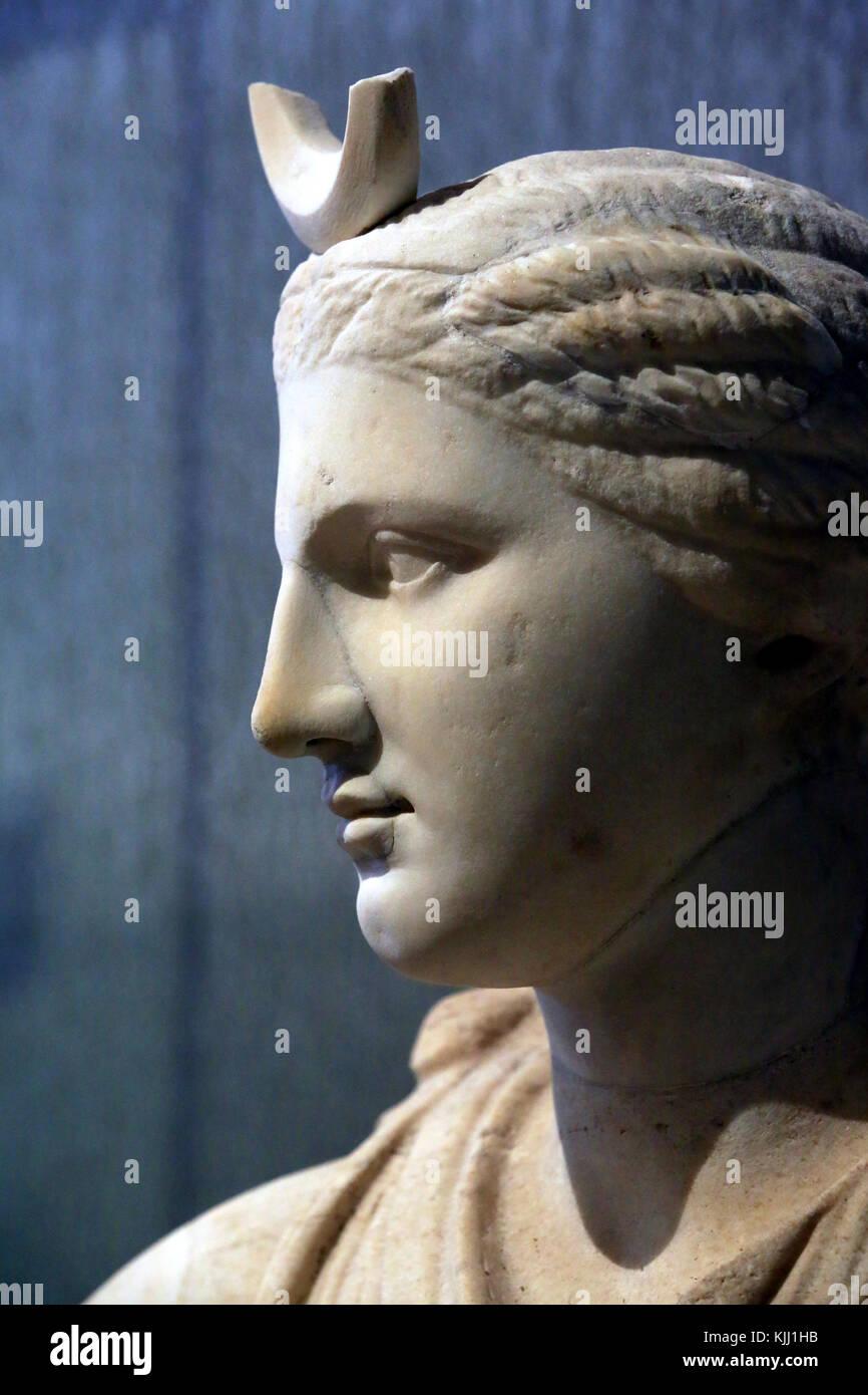 Diana, die Göttin der Jagd. Museum der gallo-römischen Zivilisation Fourviere. Lyon. Frankreich. Stockbild