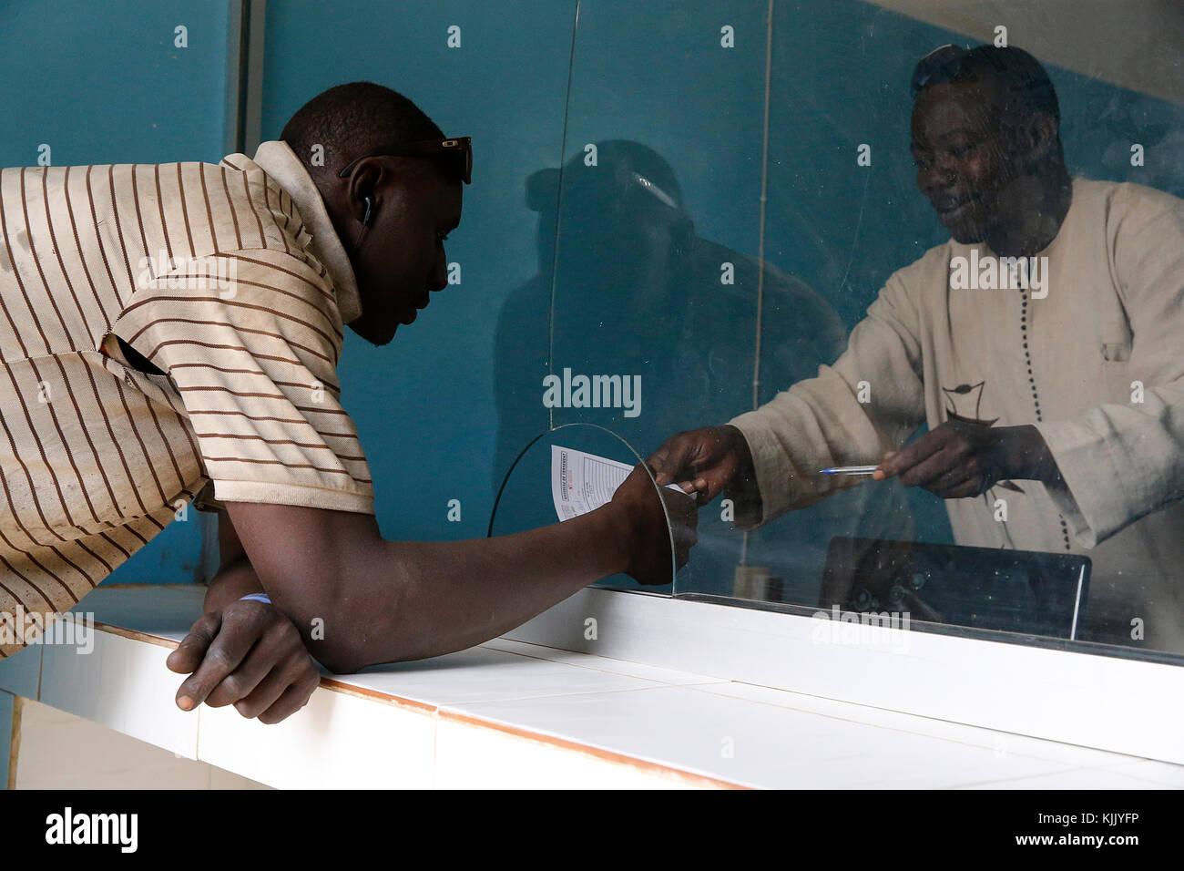 Mikrofinanzinstitution Niederlassung. Client. Senegal. Stockbild