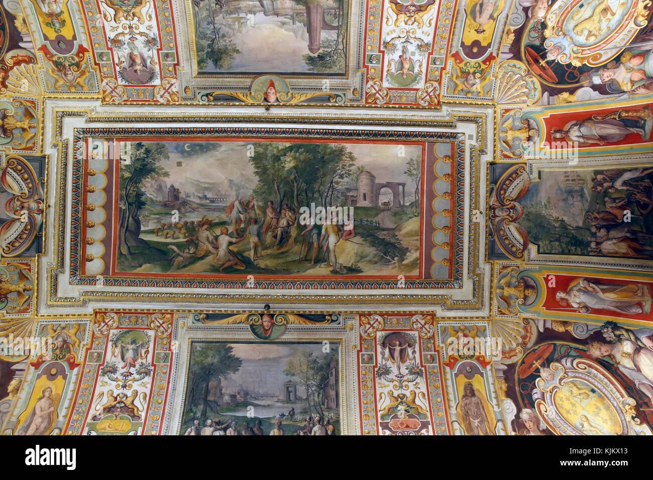 Galerie Barberini, Rom. Decke. Italien. Stockbild