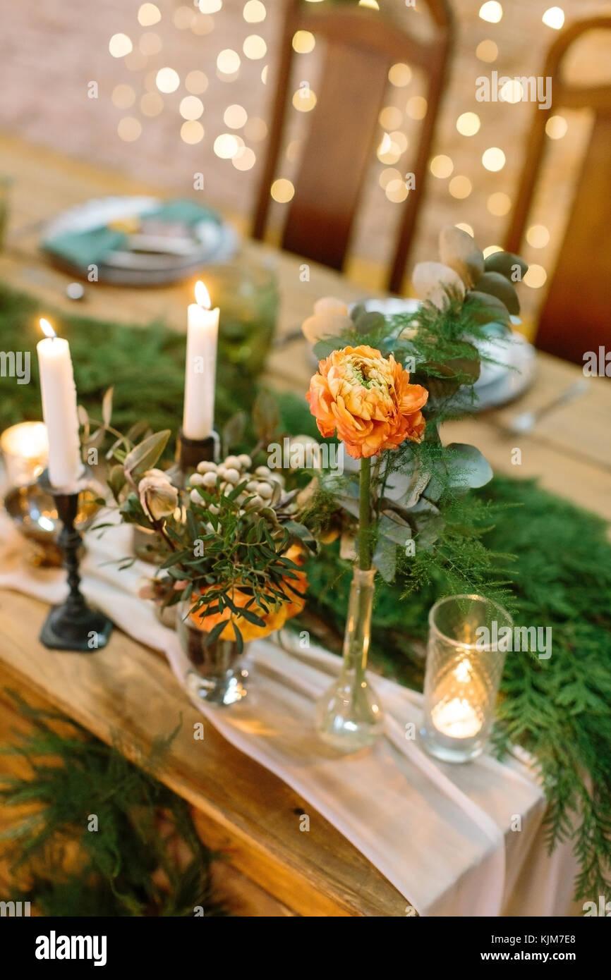 Dekoration Blumen Hochzeit Konzept Aus Der Nähe Von Bafingly