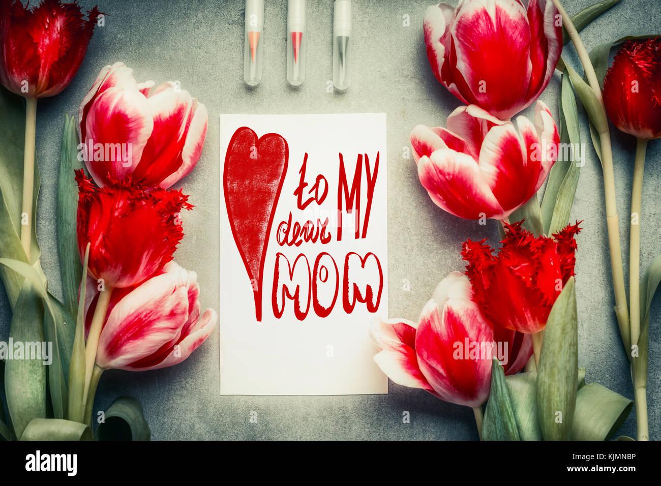 Dear Mom Stockfotos & Dear Mom Bilder - Alamy