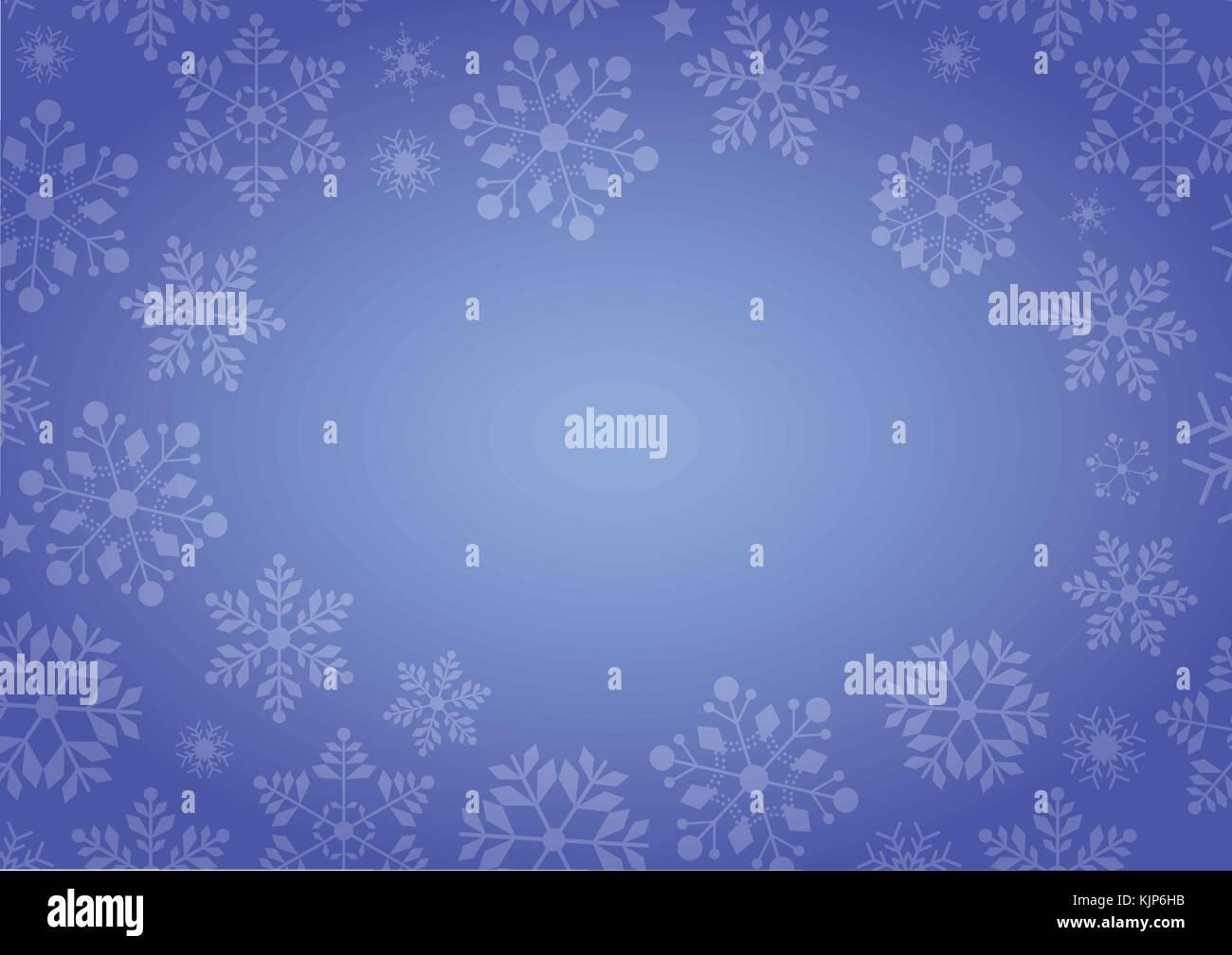 Der Gradient blue Winter Schneeflocke Grenze Weihnachten Hintergrund ...