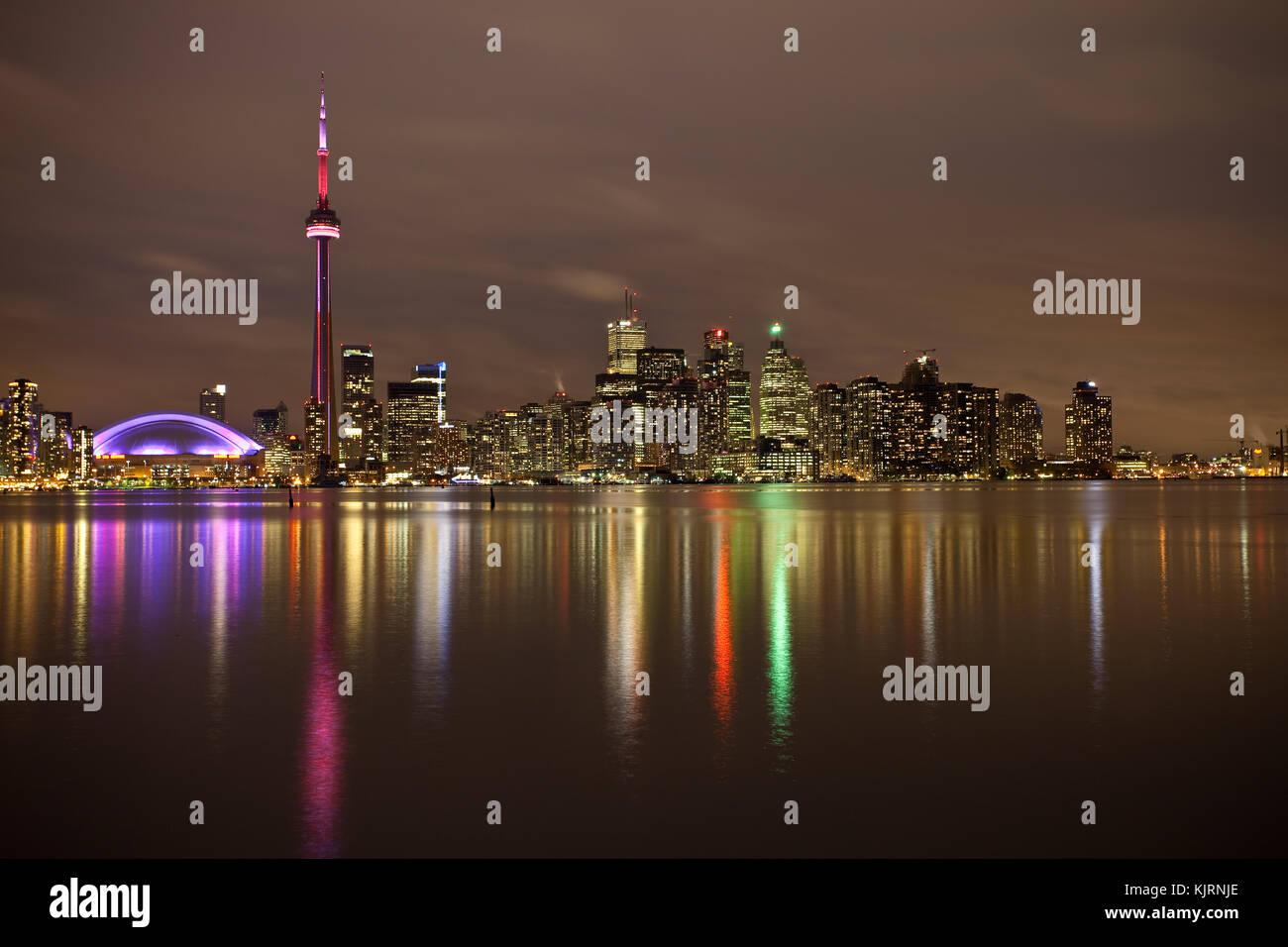Skyline von Toronto - Kanada - Lake Ontario, Nordamerika Stockfoto