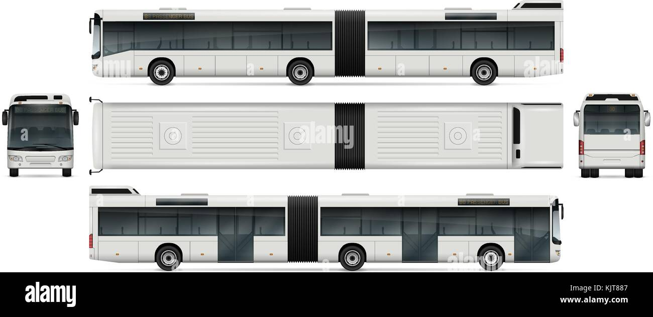Bus vektor Mock-up für Werbung, Corporate Identity. isolierte ...