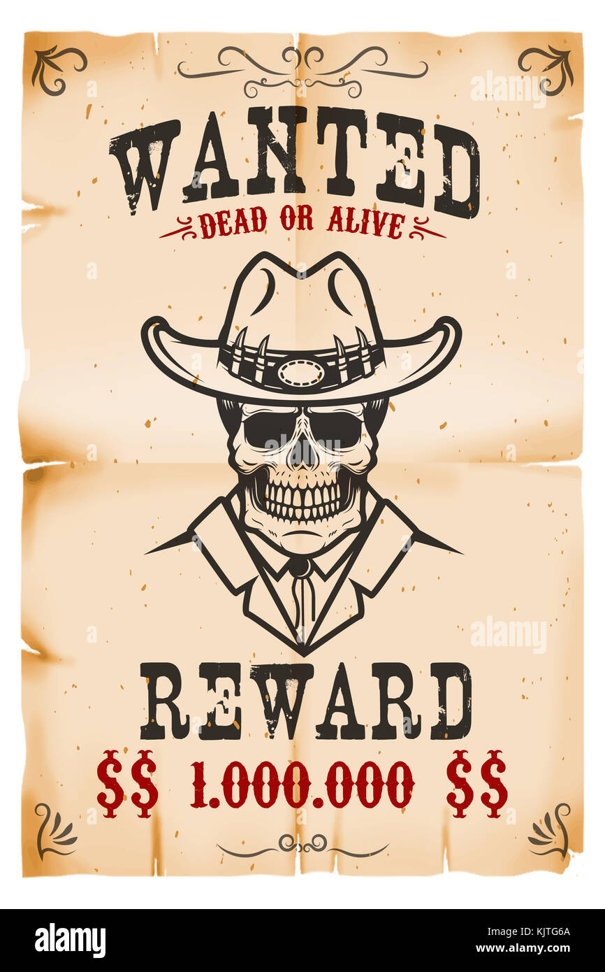 Wanted Poster Template Stockfotos & Wanted Poster Template Bilder ...