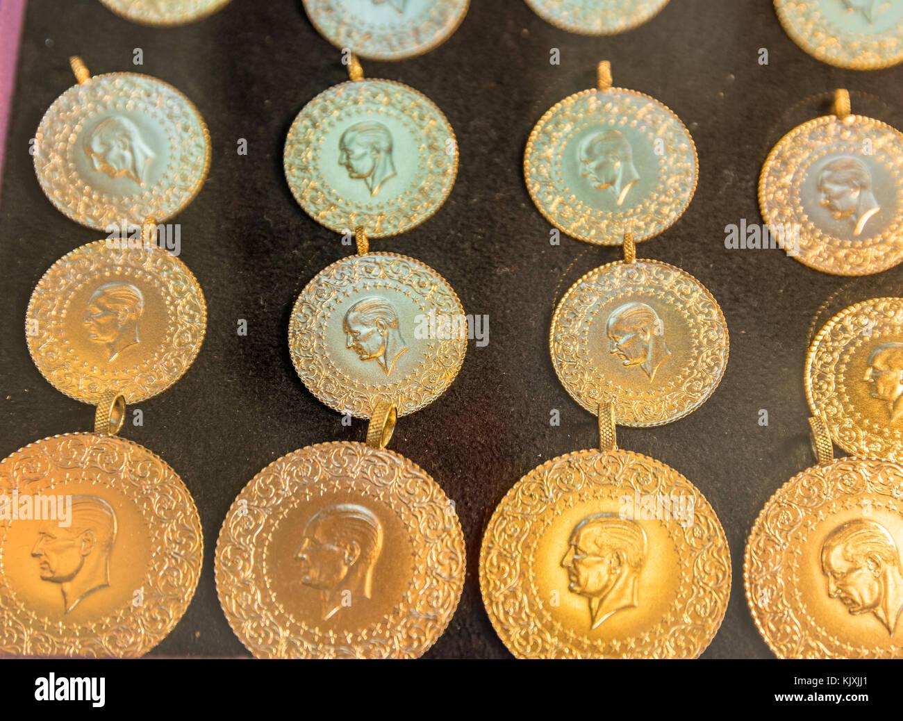 Gold Coin Turkish Lira Stockfotos und bilder Kaufen Alamy