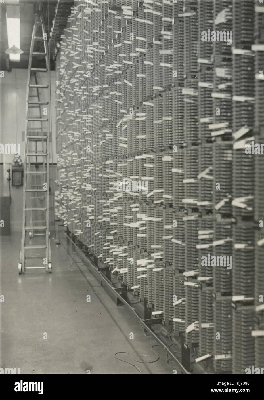 Hauptverteiler der Telefonanlage, Christchurch Central Post Office ...