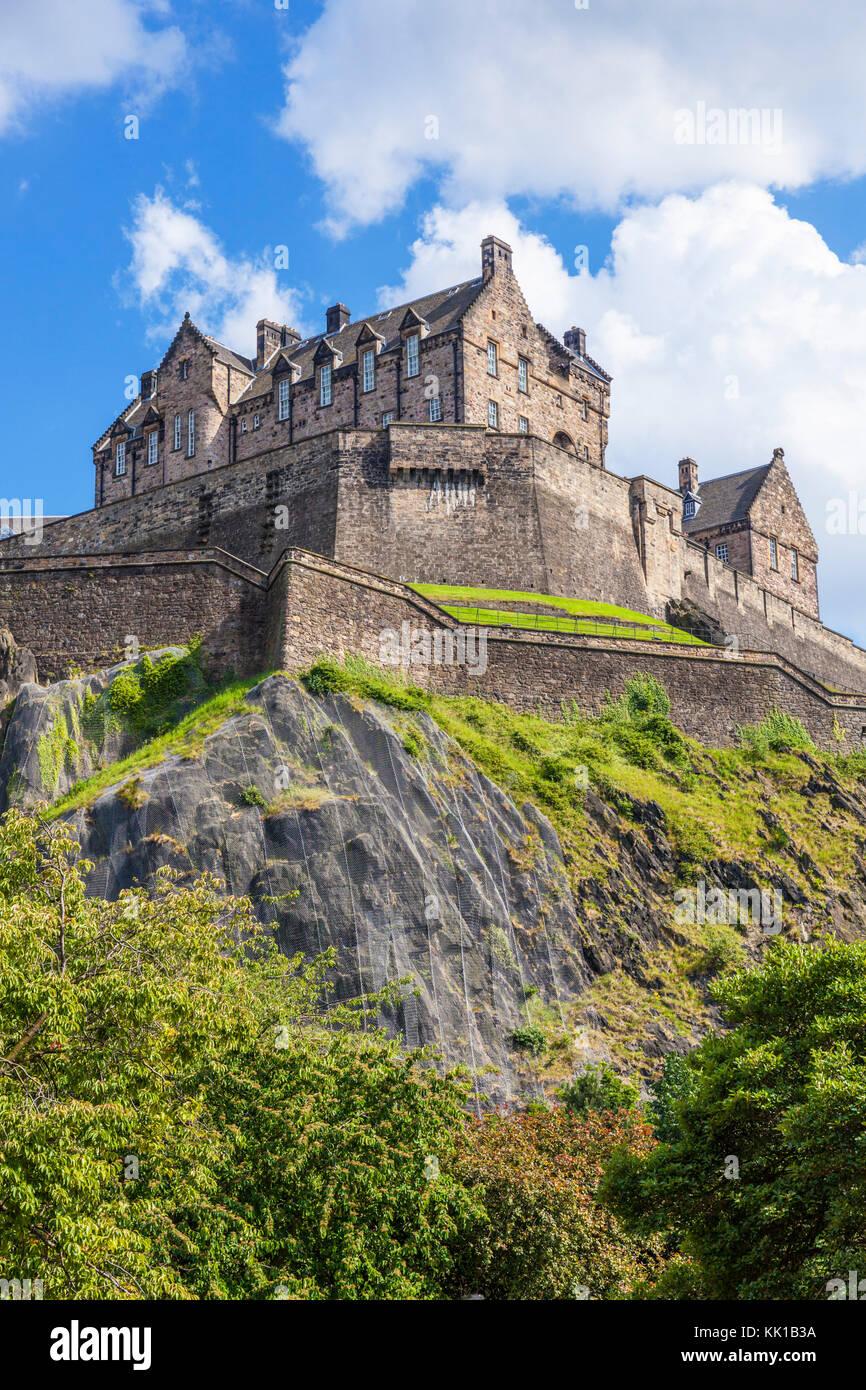Edinburgh Castle Das Schloss Edinburgh Schottland