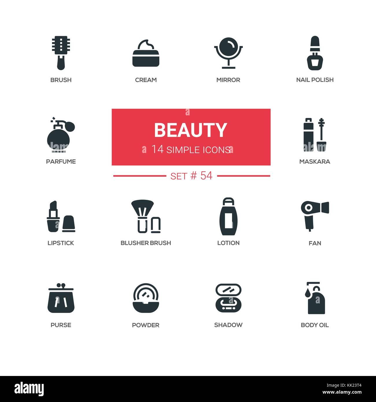 Fashion Concept, Beauty-line Design Icons einstellen Vektor ...