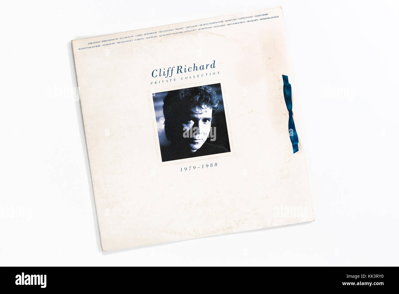 Cliff Richard, private Sammlung, Album Cover, 1988. Stockbild