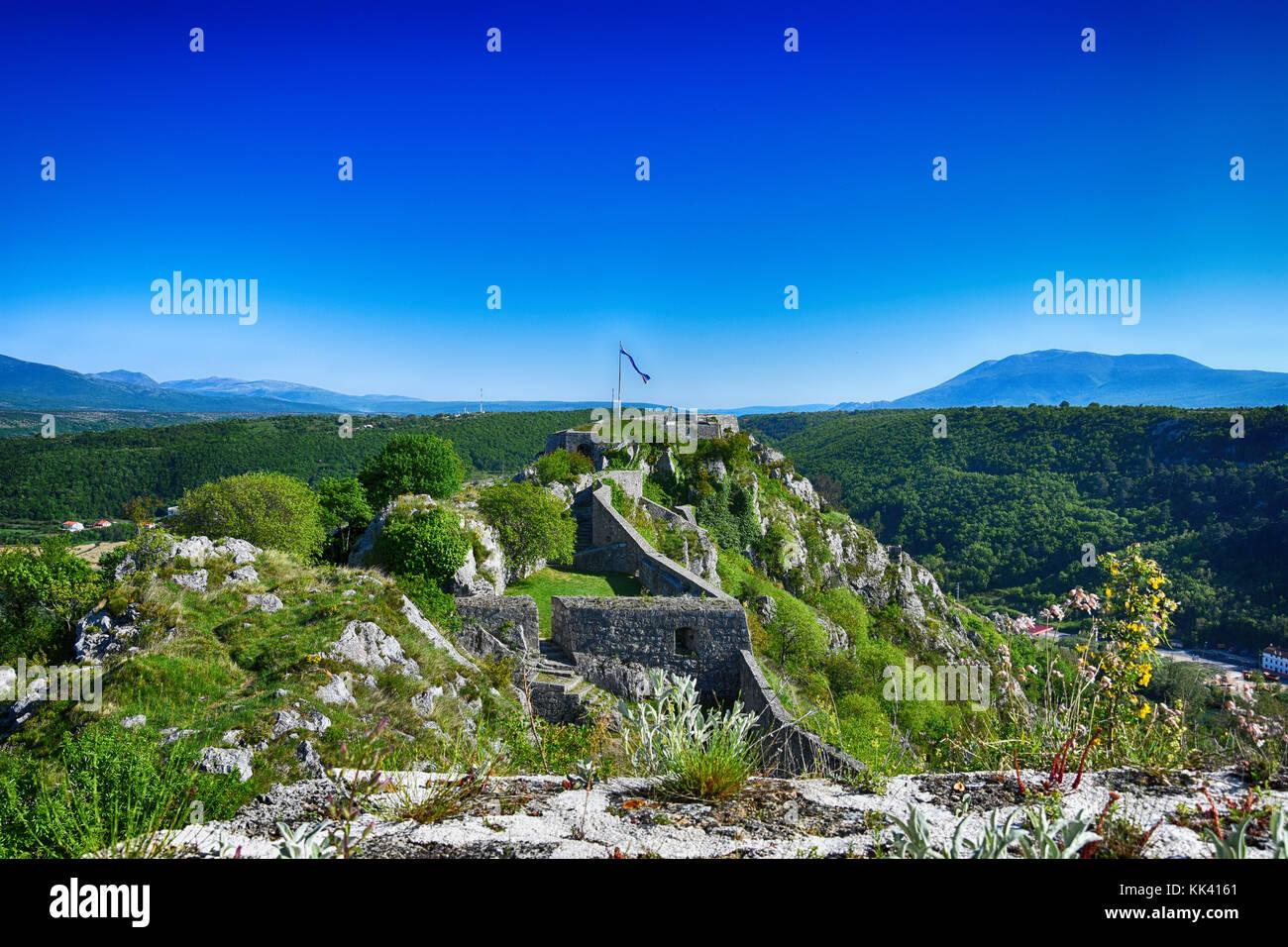 Details der Festung Knin, Knin, Kroatien Stockbild
