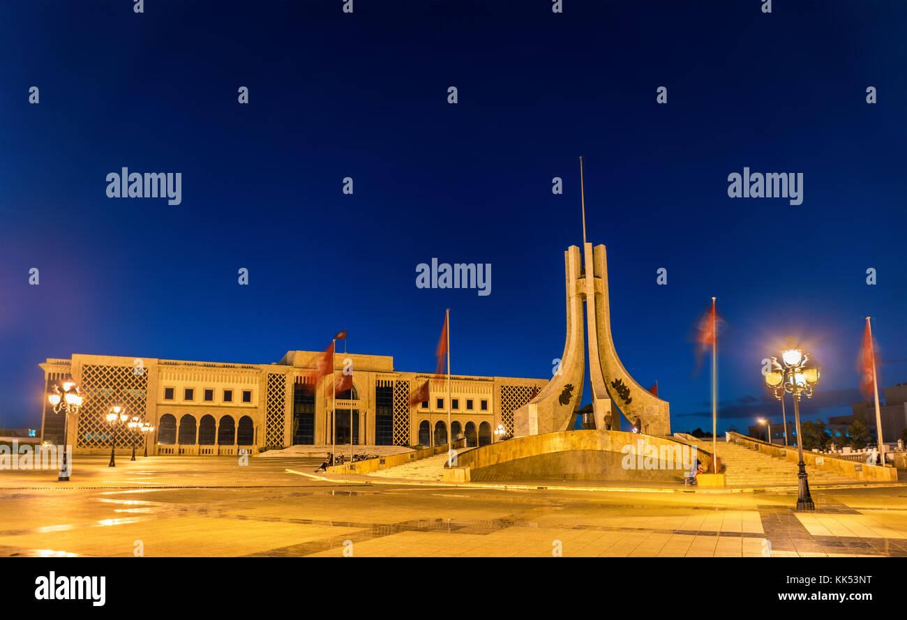 Kasbah Square in Tunis, die Hauptstadt Tunesiens Stockbild