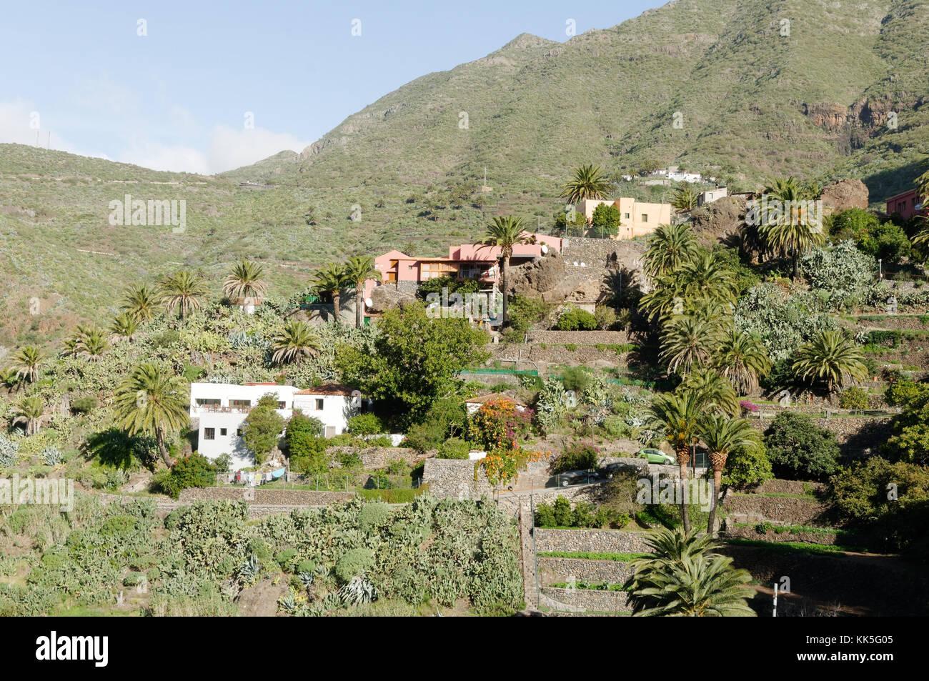 Masca den Berg Macizo de Teno Gebirge Teneriffa Kanarische Inseln Kanaren ländlichen Stockbild