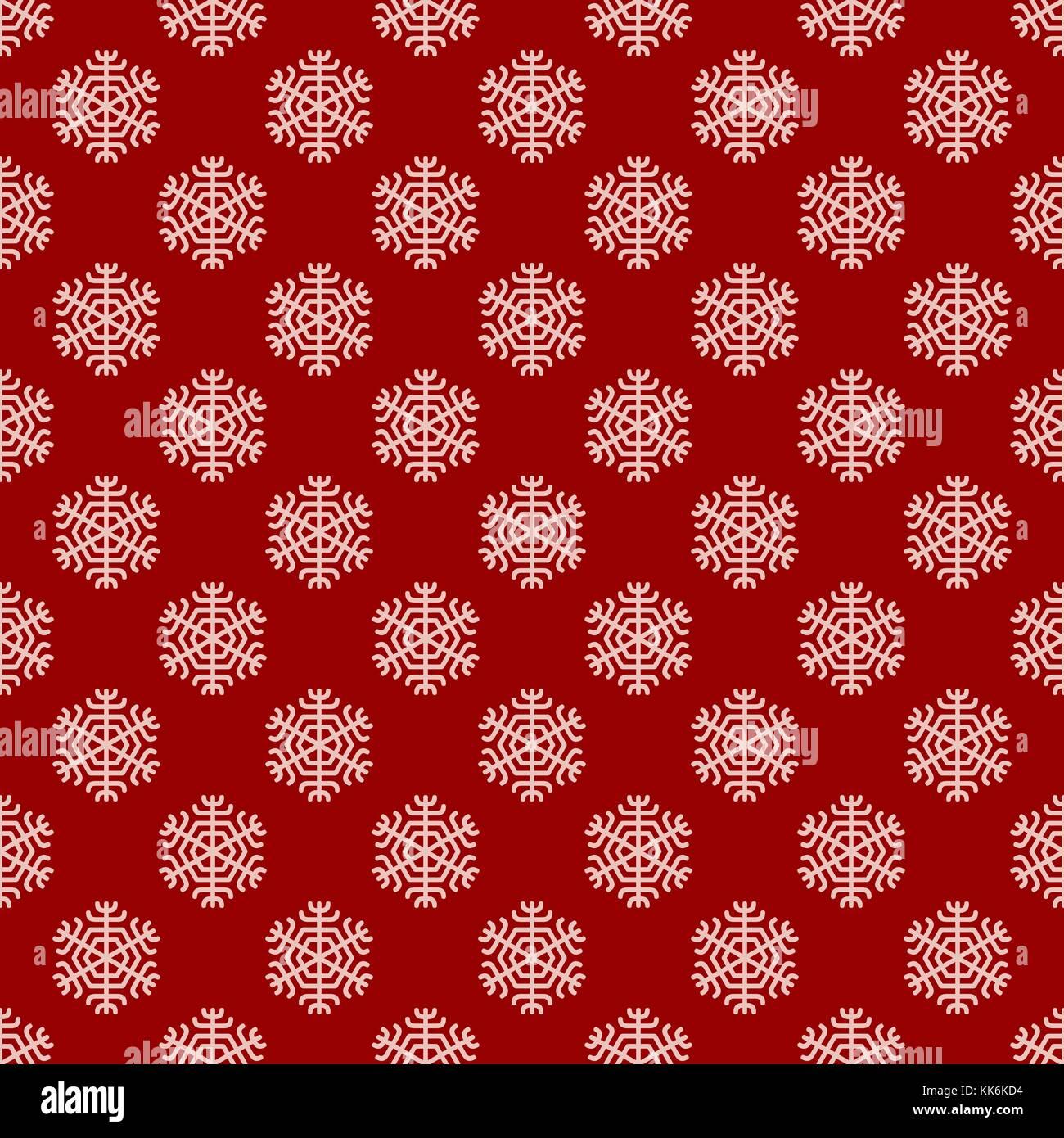 Nahtlose geometrische winter schnee Muster Tapete - Vektor ...
