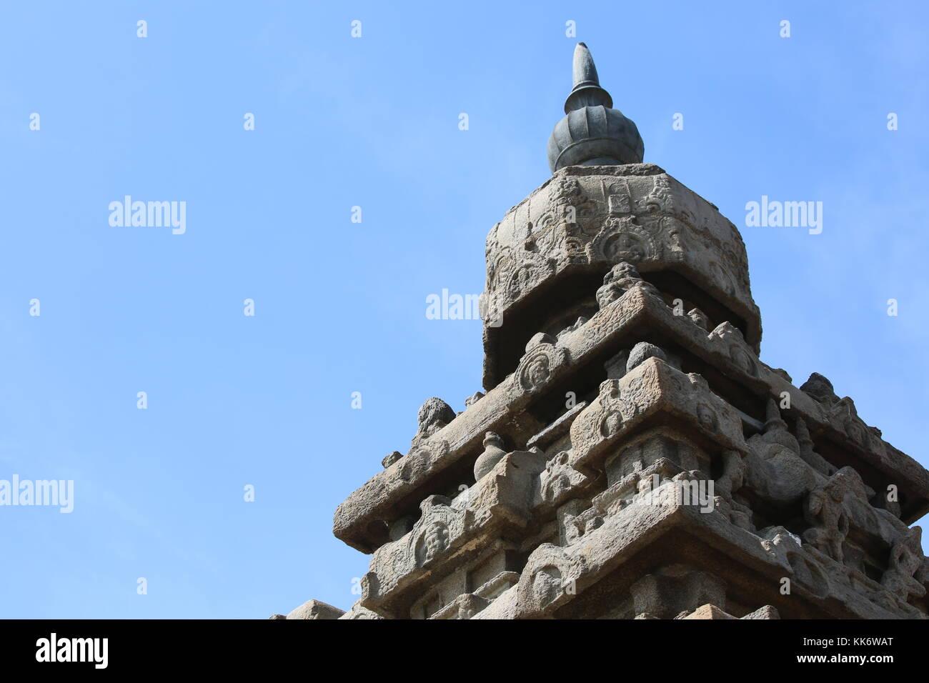 Shore Tempel, Mamallapuram-Süd Indien Südindien Stockbild