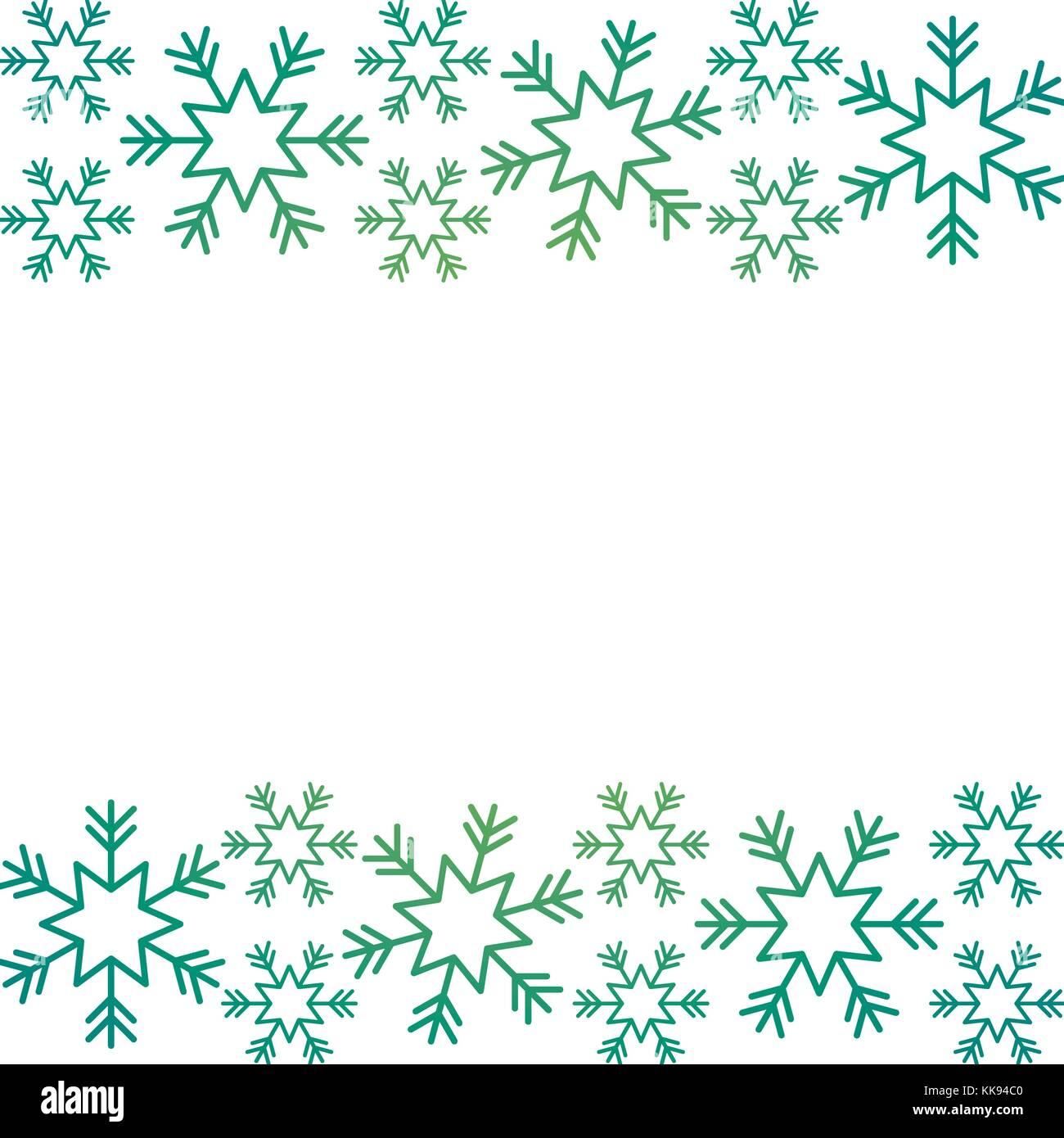Weihnachten Grenze Schneeflocke winter Design Hintergrund Vektor ...