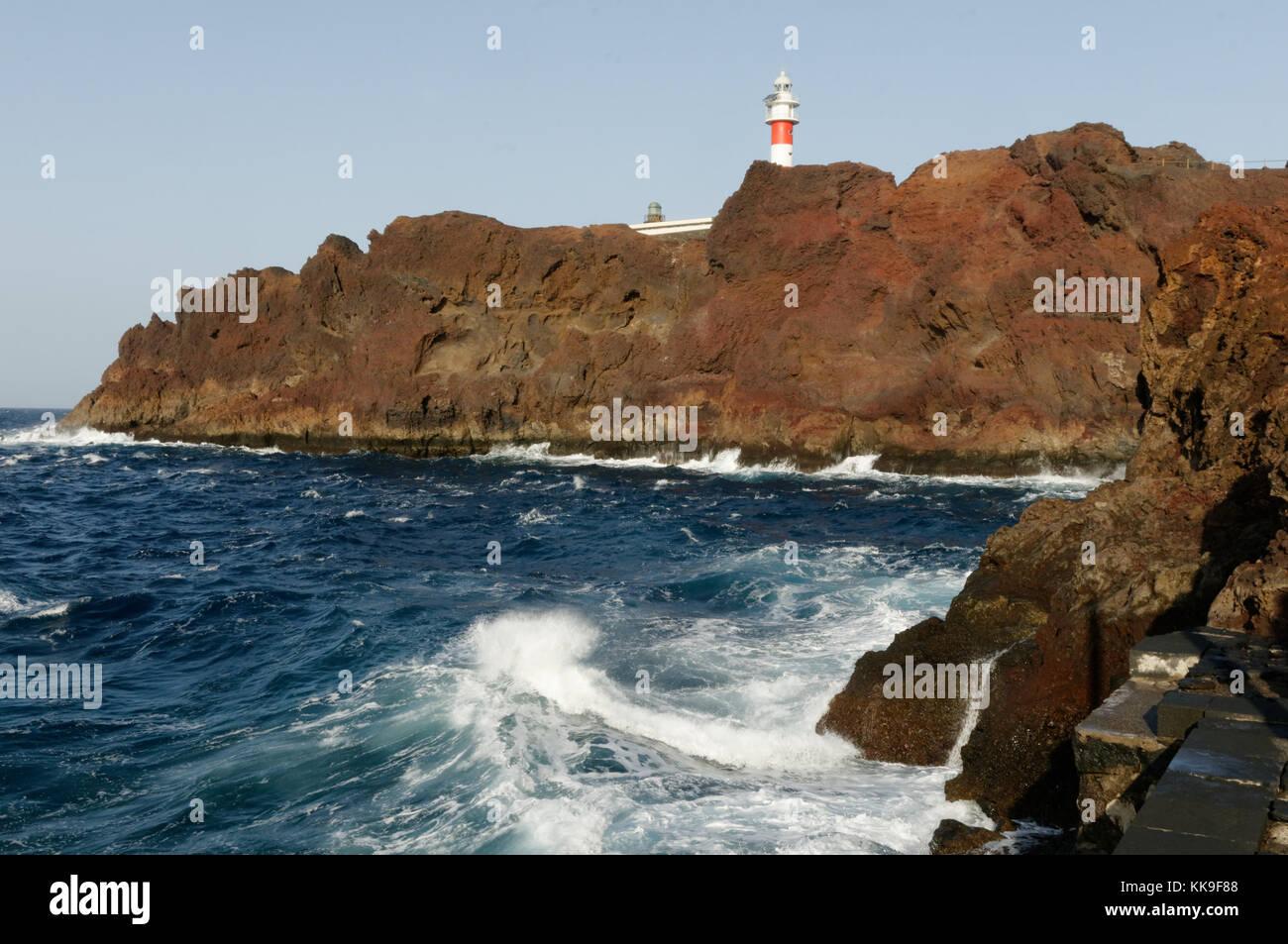 Punta de Teno Leuchtturm Teneriffa Kanarische Inseln Inseln Kanaren Stockbild