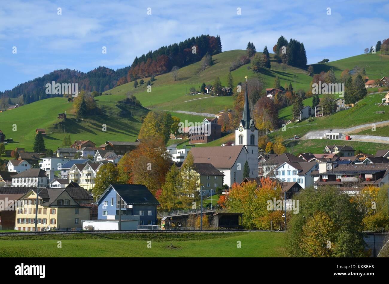 Urnäsch in der Region Appenzell (Schweiz) Stockbild