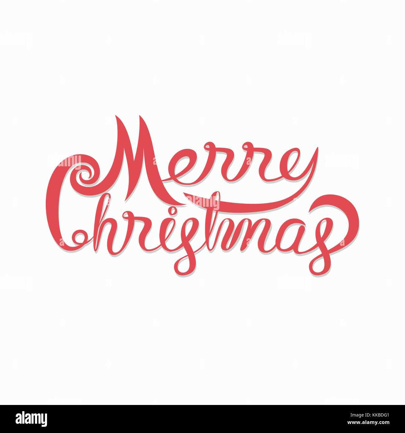 Frohe Weihnachten typografischen Gestaltungselemente. Frohe ...