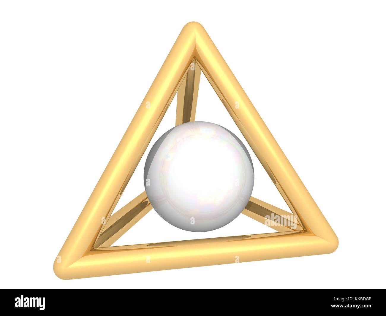 Gold und Perlen Stockbild