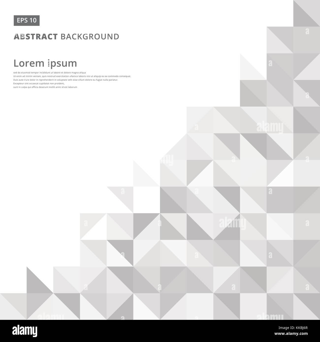 Hochwertig Abstrakte Graues Dreieck Und Quadrat In Grau Oder Weiß Farbe Muster, Vector  Illustration, Kopie Raum