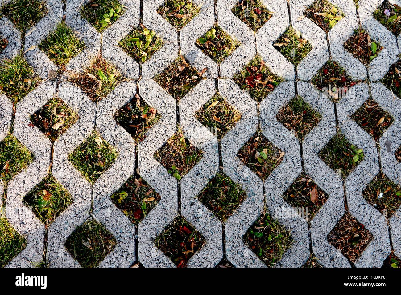 Umweltfreundliche Green Parkplatz Muster Von Square Zement
