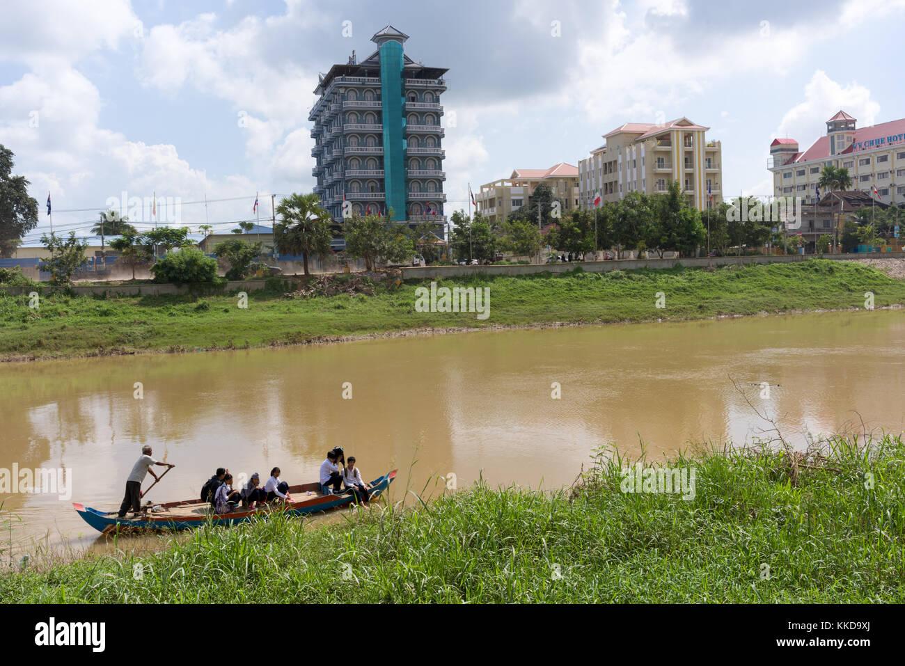 Stung Sangke Fluss in battambang Stadt Stockfoto