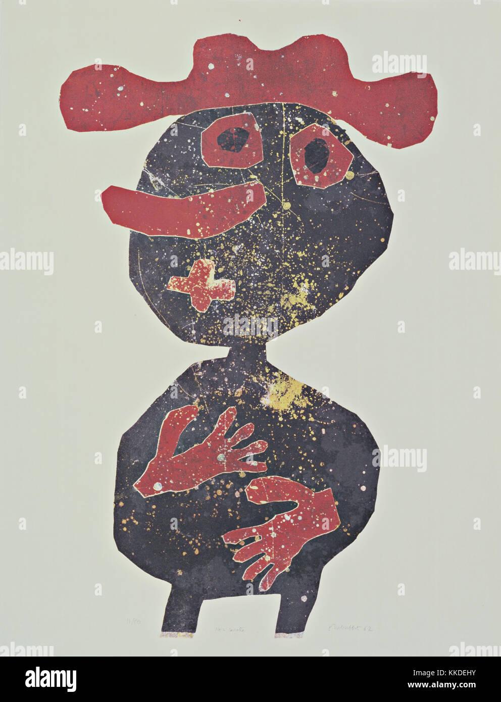 Jean Dubuffet. (Französisch, 1901-1985). nez carotte (Karotten Nase). 1961, veröffentlicht 1962. Lithographie, Stockbild