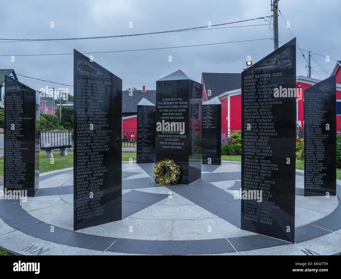 Lost sailor Memorial, Lunenburg, Nova Scotia, Kanada. Stockbild