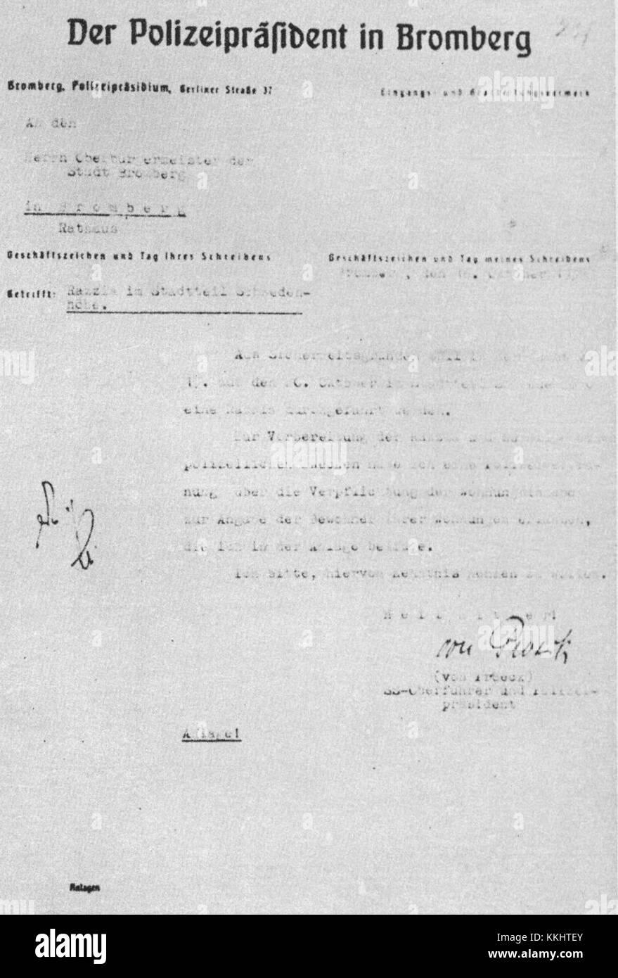 Formeller Brief Der Deutschen Polizei Die In Bydgoszcz über Round