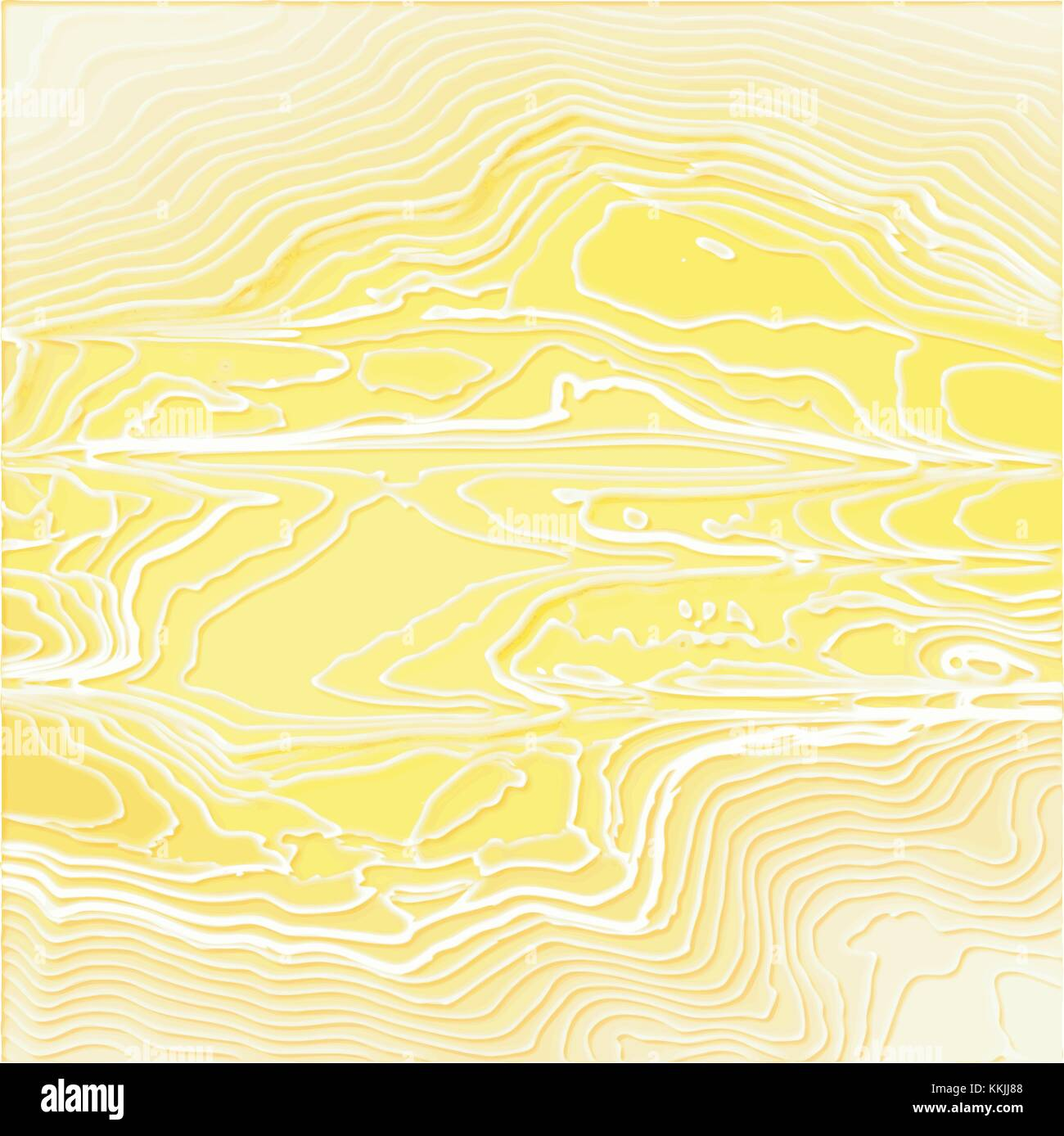 Gelb 3d Papier Schnittmuster mit geschwungenen weißen Linien, Vektor ...