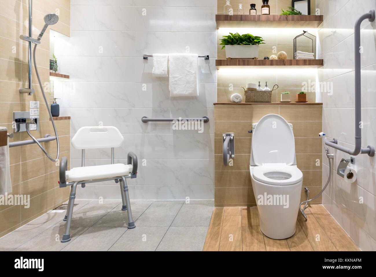 Interieur Des Badezimmers Für Behinderten Oder älteren Menschen - Behinderten badezimmer