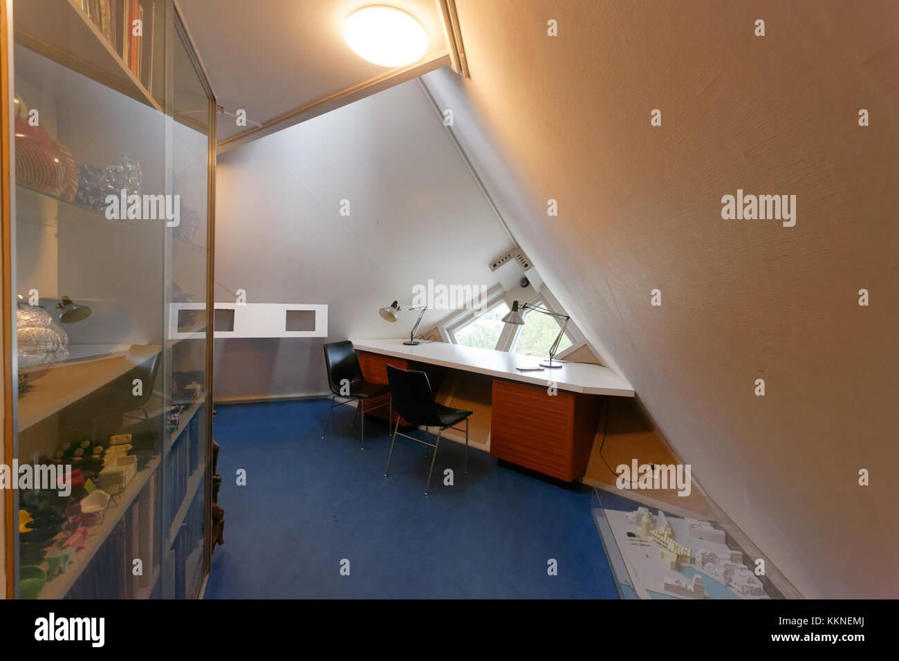 Innere des Kubus Häuser, Rotterdam Stockfoto, Bild: 167044322 - Alamy