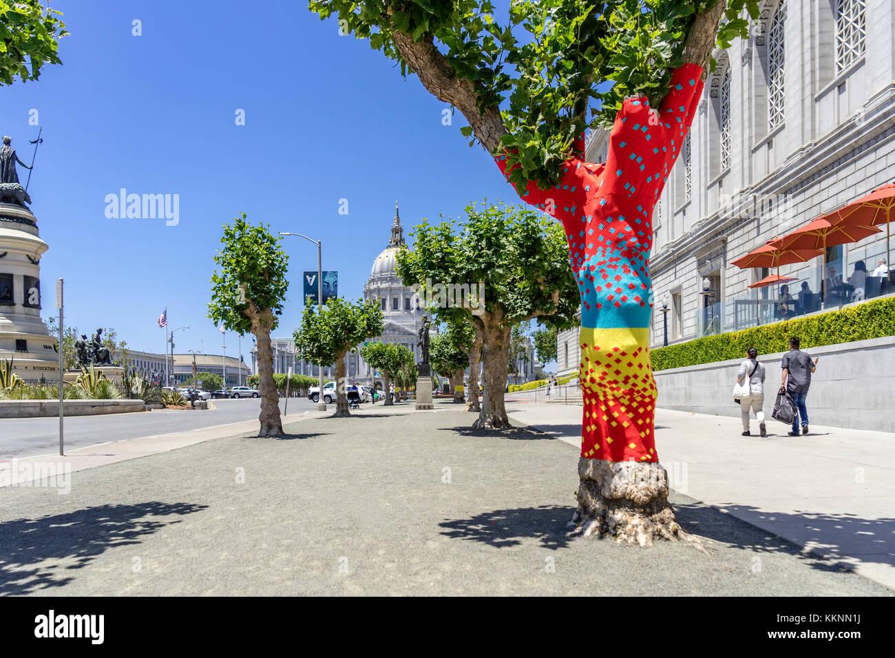 Street Art, Rathaus, Downtown, San Francisco, Kalifornien, USA Stockfoto