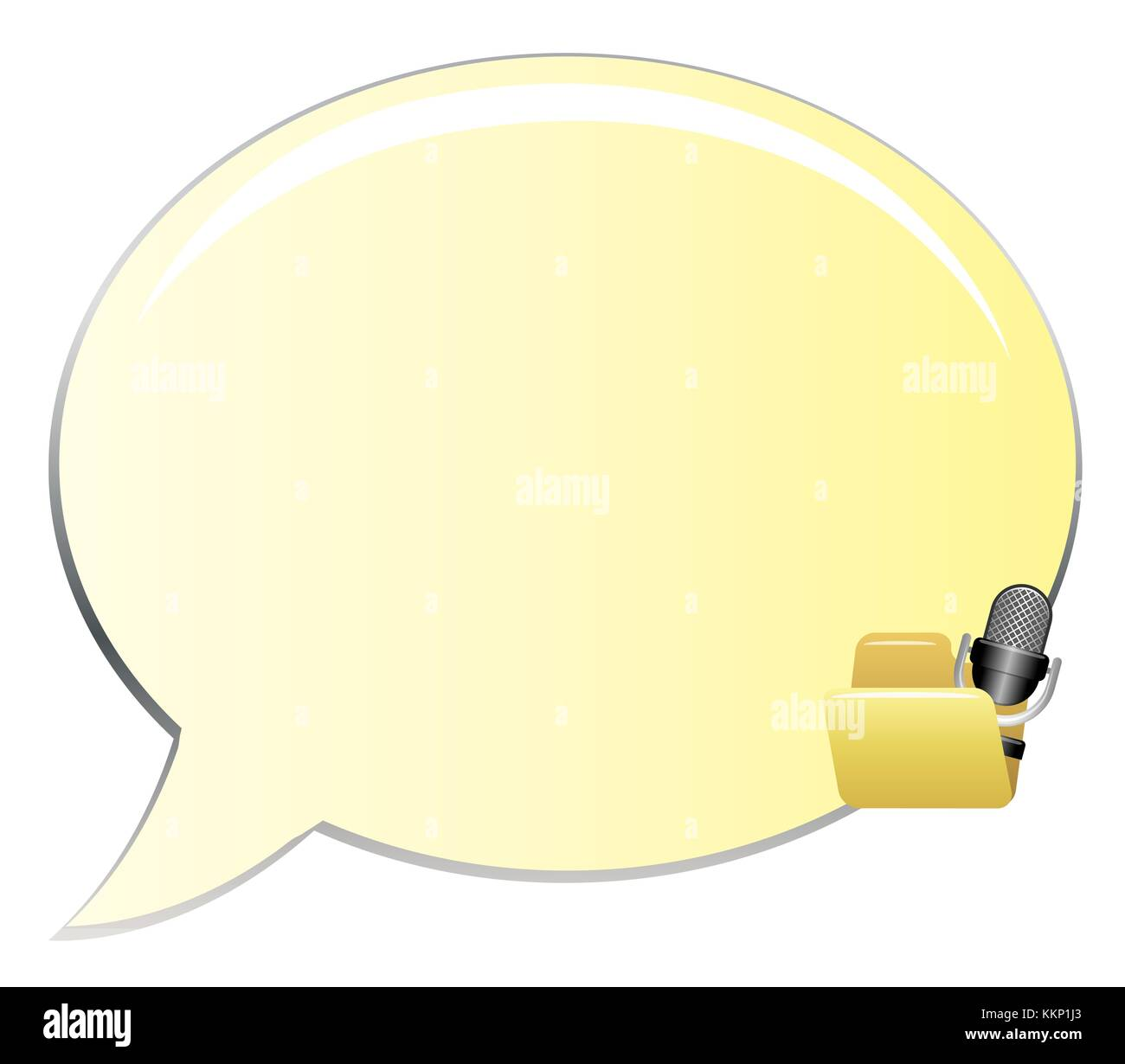 Clip Art Gelben Sprechblasen Stockbild