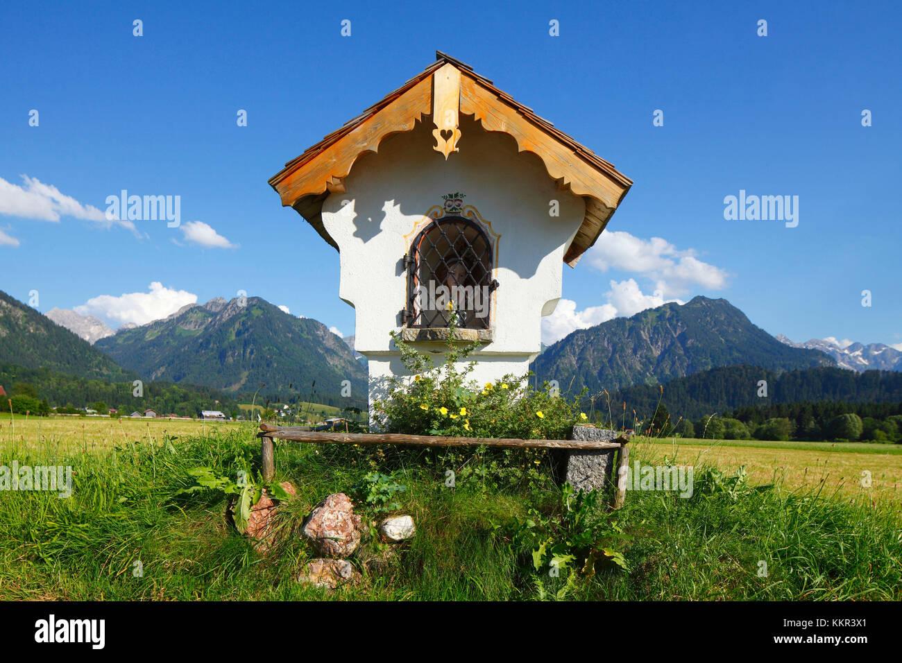 Bildstock, Oberstdorf, Oberallgäu, Allgäu, Schwaben, Bayern, Deutschland, Europa, Stockbild