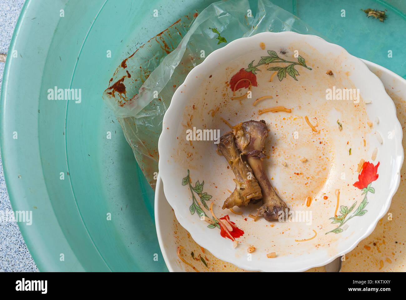 Geschirrspulen Gerichte Einweichen In Der Kuchenspule Kunststoff