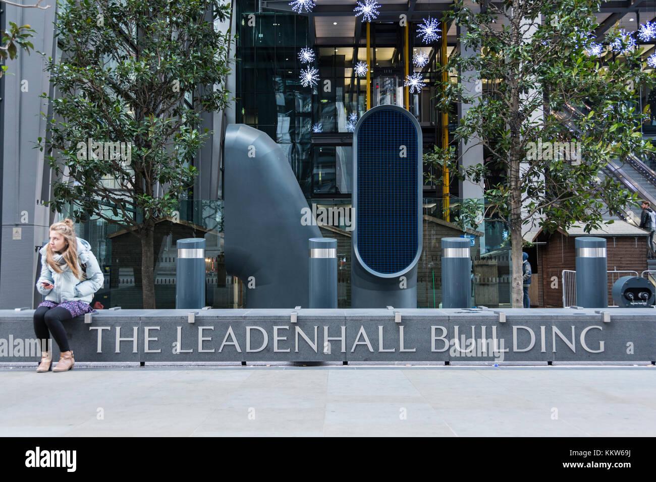 Die Leadenhall Gebäude, Turm 42, Leadenhall Street, London, EC3V, UK Stockbild