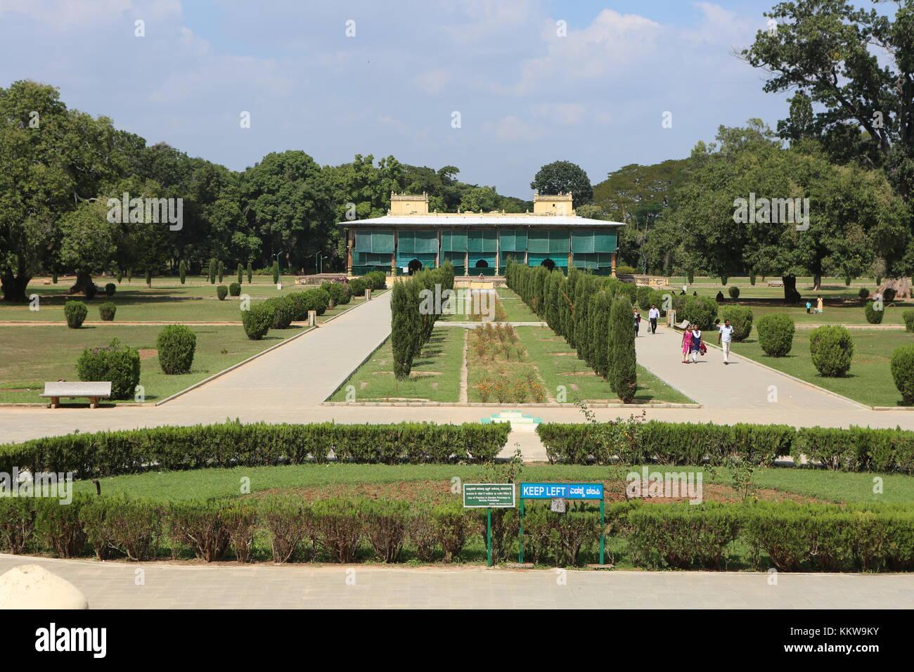 Südindien - Indien - Karnataka - Srirangapatna, Daria Daulat Bagh Parkanlage Stockbild