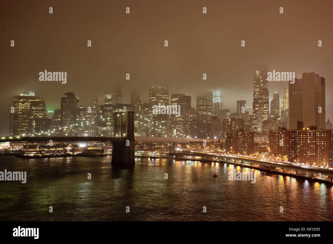 Brrokly Brücke - New York City - Vereinigte Staaten - USA Stockfoto