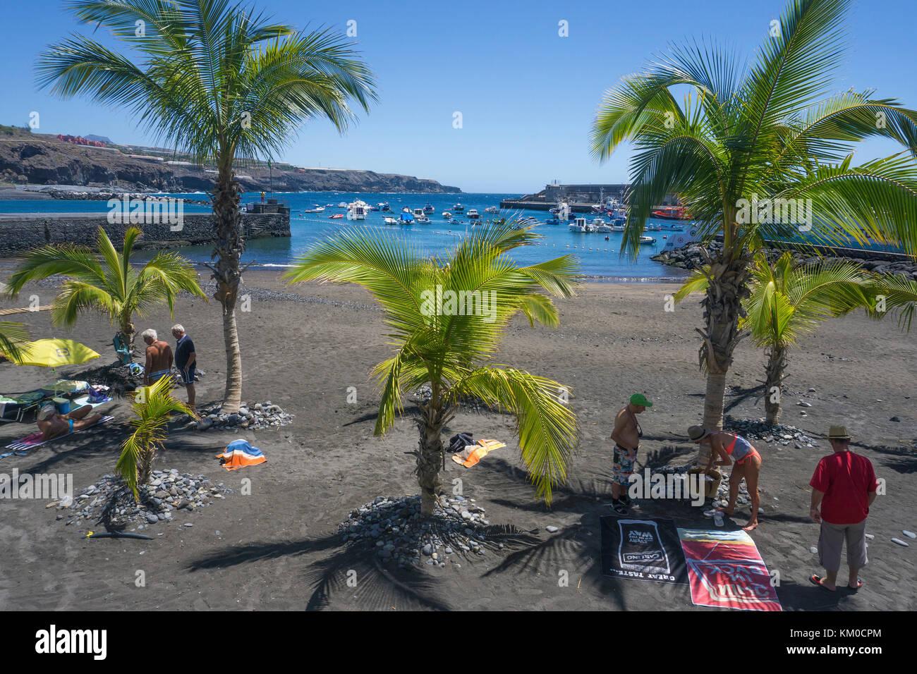 Playa San Juan, Strand an der Westküste der Insel, Teneriffa, Kanarische Inseln, SpanienStockfoto