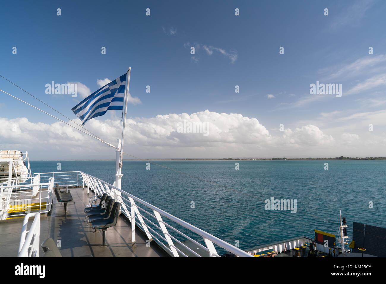 ferry greece deck stockfotos ferry greece deck bilder. Black Bedroom Furniture Sets. Home Design Ideas