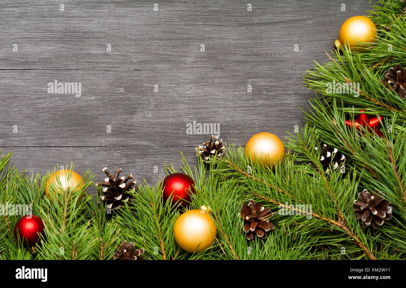 Weihnachten Dekoration, girlande Rahmen Hintergrund, Ansicht von ...