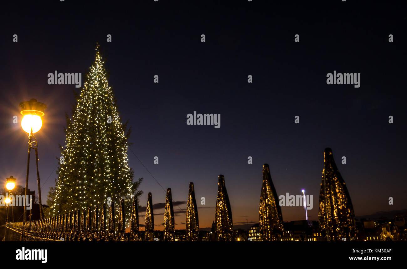 Weihnachtsbaum, Geschenk von Hordaland County, Norwegen ...