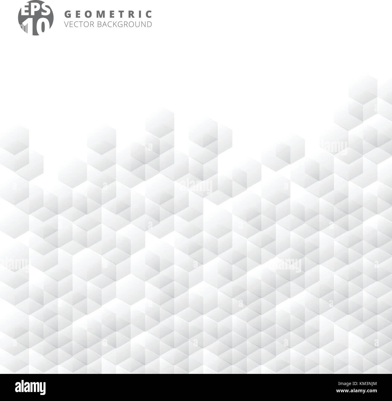 Abstrakte geometrische Hexagon weiß und grau gerastert Mosaik ...