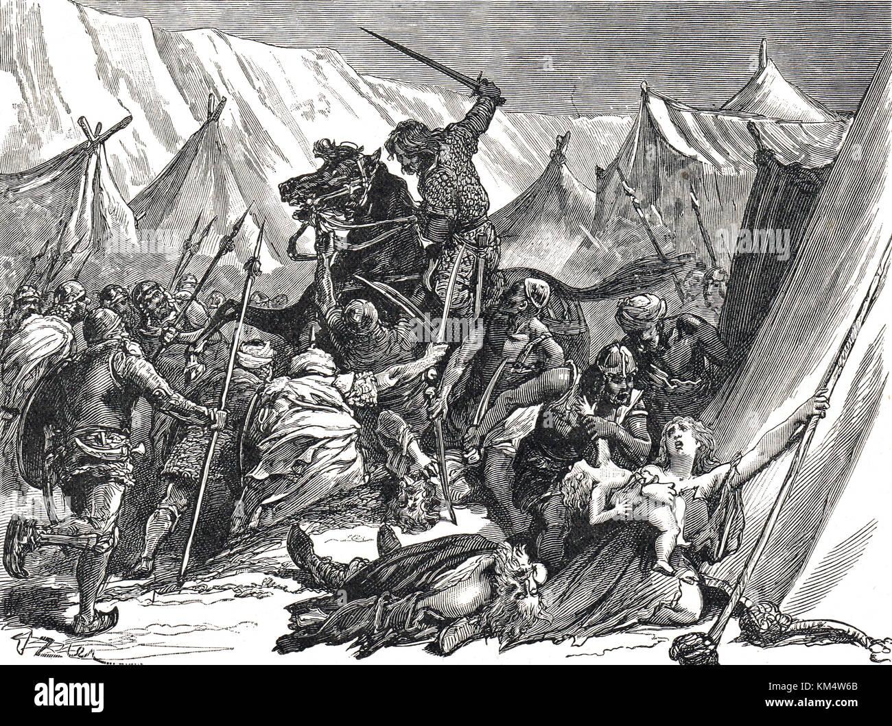 Robert Curthose, Robert II., Herzog der Normandie, die Kreuzfahrer in der Schlacht von dorylaeum, 1097 während Stockbild
