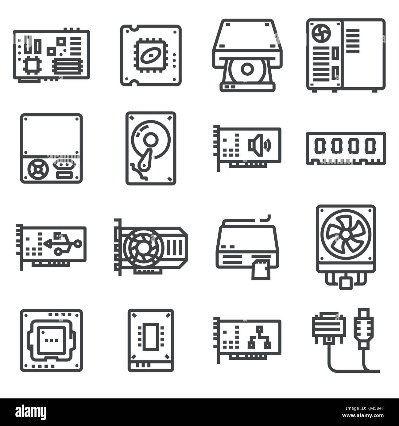 Großzügig Symbole Für Komponenten Galerie - Schaltplan Serie Circuit ...
