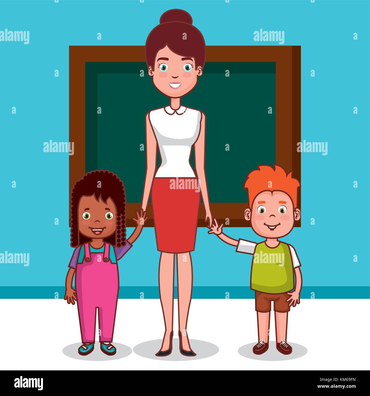 Clipart illustration preschool classroom stockfotos for Innenraumdesign studieren