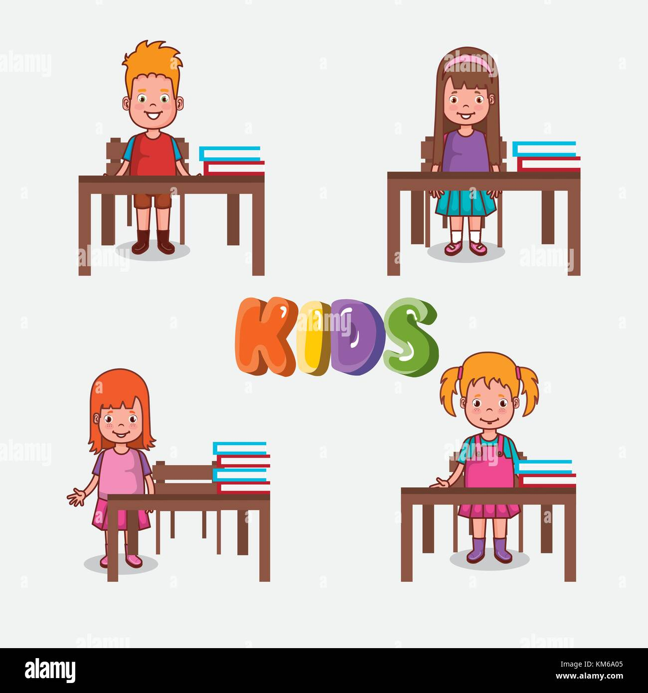 Clipart illustration preschool classroom stockfotos for Innenraumdesign studieren